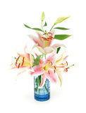Lily flowers vase Stock Photography
