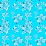 Lily flowers - wallpaper. Drawing pastel. Seamless pattern. Stock Photo