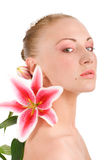 lily głowy młode kobiety Zdjęcia Stock