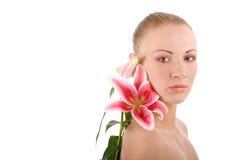 lily głowy młode kobiety Obraz Stock