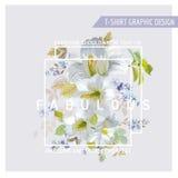 Lily Graphic Design floral Imagen de archivo
