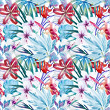 Lily an hibiscus flower pattern Royalty Free Stock Photography