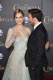 Lily James & Richard Madden. LOS ANGELES, CA - MARCH 1, 2015: Lily James & Richard Madden at the world premiere of their movie Cinderella at the El Capitan royalty free stock photo