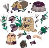 Lily kreskówki wielkanocy set ilustracja wektor