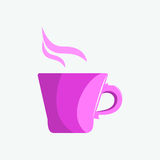 Lily kubek herbata lub kawa w ranku Zdjęcie Stock