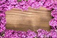 Lily kwiatu kłamstwo na drewnianej powierzchni Lilych kwiatów ramowy skład Fotografia Royalty Free