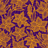 Lily Lace. Seamless Pattern. Royalty Free Stock Photography