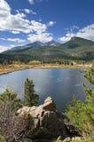 Lily Lake And Longs Peak Stock Fotografie