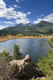 Lily Lake And Longs Peak Stock Photography
