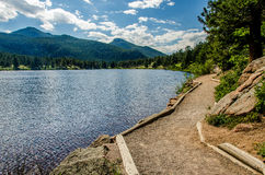 Lily Lake Rocky Mountain National Park Colorado Trail Stock Images