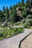 Lily Lake Rocky Mountain National parkerar den Colorado slingan Arkivbild