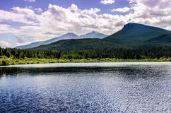 Lily Lake Rocky Mountain National parkerar den Colorado slingan Royaltyfri Bild