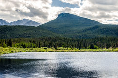 Lily Lake Rocky Mountain National parkerar den Colorado slingan Royaltyfri Fotografi