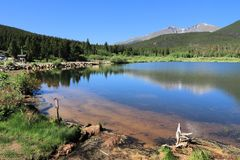 Lily Lake, Rocky Mountains. Rocky Mountain National Park in Colorado, USA. Lily Lake Stock Photography