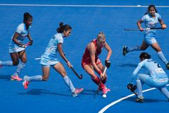 Women`s World Hockey Cup 2018 royalty free stock image