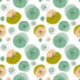Lily pad seamless pattern Royalty Free Stock Photography