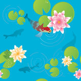Lily pond stock illustration