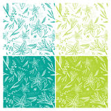 Lily Seamless Background Royalty-vrije Stock Afbeelding