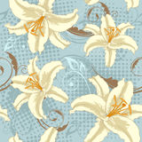 Lily seamless pattern Royalty Free Stock Images