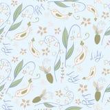 Lily Seamless Spring Pattern Image libre de droits