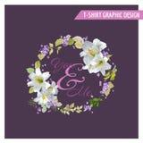 Lily Shabby Chic Graphic Design floral Fotografía de archivo