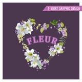 Lily Shabby Chic Graphic Design floral Fotos de archivo libres de regalías