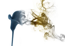 The lily from the smoke. Gradient lily which becomes smoke Stock Photo