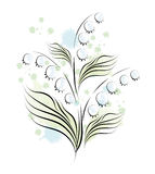 Lily of the valley. Sketch Royalty Free Stock Photo