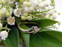 Lily of the Valley and Betroth. Al Ring Stock Photography