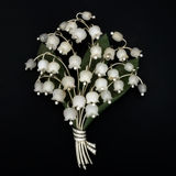 Lily of the Valley Brooch Royalty Free Stock Photography
