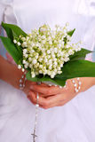 Lily of the valley bunch for the first holly communion Royalty Free Stock Image