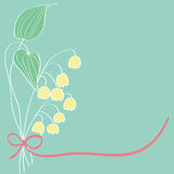 Lily of the valley card pattern design. Illustration Royalty Free Stock Photography