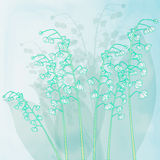 Lily of valley flowers. Vector background Stock Photo