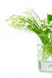 Lily of valley in glass Royalty Free Stock Image