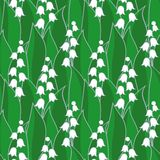 Lily of the valley seamless Royalty Free Stock Images
