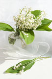 Lily of the valley in vase stock image
