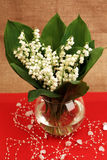 Lily of the valley, vase Royalty Free Stock Images