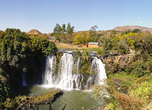 Lily waterfall of Ampefy, Madagascar Stock Images