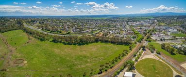 Lilydale suburb and mountains. royalty free stock image