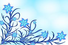 lilyes bleus Photo libre de droits