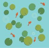 Lilypad Koi Pond Stock Images