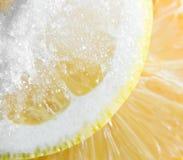 Limão com açúcar. Fotografia de Stock