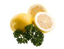Limão com salsa Imagem de Stock