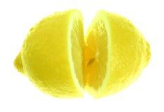 Limão, cortado imagens de stock royalty free