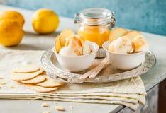 Limão Curd Ice Cream Foto de Stock Royalty Free