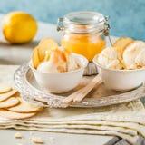 Limão Curd Ice Cream Fotografia de Stock Royalty Free