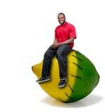 Limão e cal costurados homem negro Imagens de Stock