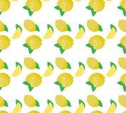 limão e folhas amarelos frescos Imagem de Stock Royalty Free