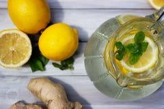 Limão e gengibre Imagem de Stock Royalty Free