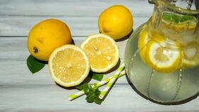 Limão e limonada Fotografia de Stock
